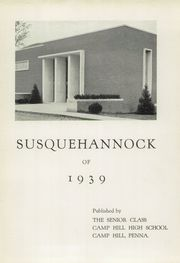 Page 3, 1939 Edition, Camp Hill High School - Camillon Yearbook (Camp Hill, PA) online yearbook collection