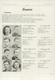 Page 17, 1940 Edition, Camp Hill High School - Camillon Yearbook (Camp Hill, PA) online yearbook collection