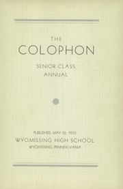 Page 7, 1933 Edition, Wyomissing Area High School - Colophon Yearbook (Wyomissing, PA) online yearbook collection