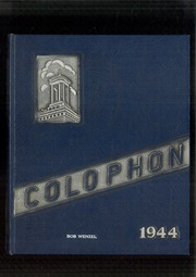Page 1, 1944 Edition, Wyomissing Area High School - Colophon Yearbook (Wyomissing, PA) online yearbook collection