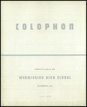 Page 6, 1951 Edition, Wyomissing Area High School - Colophon Yearbook (Wyomissing, PA) online yearbook collection