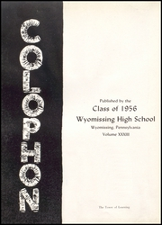 Page 6, 1956 Edition, Wyomissing Area High School - Colophon Yearbook (Wyomissing, PA) online yearbook collection