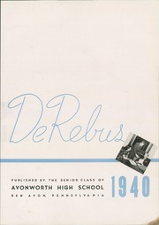 Page 7, 1940 Edition, Avonworth High School - De Rebus Yearbook (Pittsburgh, PA) online yearbook collection