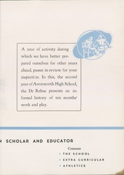 Page 9, 1940 Edition, Avonworth High School - De Rebus Yearbook (Pittsburgh, PA) online yearbook collection