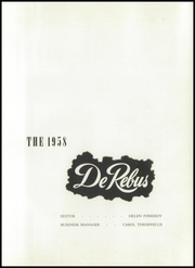 Page 5, 1958 Edition, Avonworth High School - De Rebus Yearbook (Pittsburgh, PA) online yearbook collection