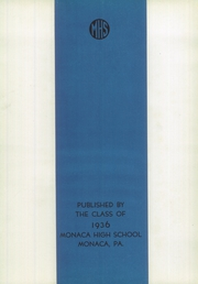 Page 6, 1936 Edition, Monaca High School - Acanom Yearbook (Monaca, PA) online yearbook collection