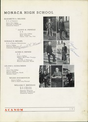 Page 17, 1938 Edition, Monaca High School - Acanom Yearbook (Monaca, PA) online yearbook collection