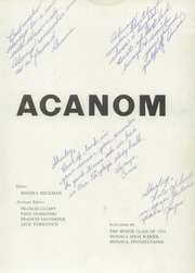 Page 5, 1954 Edition, Monaca High School - Acanom Yearbook (Monaca, PA) online yearbook collection
