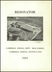 Page 5, 1954 Edition, Cambridge Springs Joint High School - Resonator Yearbook (Cambridge Springs, PA) online yearbook collection