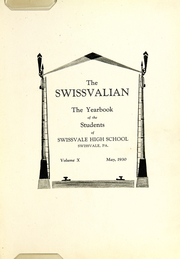 Page 9, 1930 Edition, Swissvale High School - Swissvalian Yearbook (Swissvale, PA) online yearbook collection