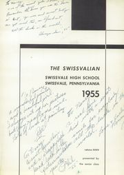 Page 5, 1955 Edition, Swissvale High School - Swissvalian Yearbook (Swissvale, PA) online yearbook collection