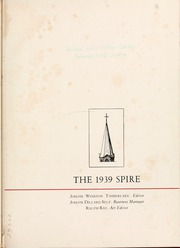 Page 5, 1939 Edition, Belmont Abbey College - Spire Yearbook (Belmont, NC) online yearbook collection