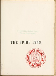 Page 5, 1949 Edition, Belmont Abbey College - Spire Yearbook (Belmont, NC) online yearbook collection