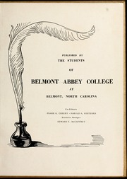 Page 7, 1952 Edition, Belmont Abbey College - Spire Yearbook (Belmont, NC) online yearbook collection