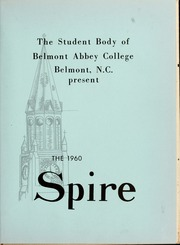 Page 5, 1960 Edition, Belmont Abbey College - Spire Yearbook (Belmont, NC) online yearbook collection
