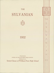 Page 7, 1932 Edition, William Penn High School - Sylvanian Yearbook (Harrisburg, PA) online yearbook collection