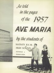 Nativity BVM High School - Ave Maria Yearbook (Pottsville, PA) online yearbook collection, 1957 Edition, Page 7