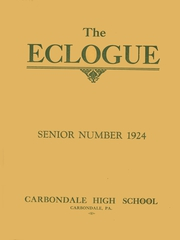 1924 Edition, Carbondale High School - Eclogue Yearbook (Carbondale, PA)