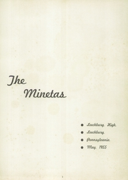 Page 5, 1955 Edition, Leechburg High School - Minetas Yearbook (Leechburg, PA) online yearbook collection