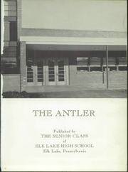 Page 5, 1958 Edition, Elk Lake High School - Antler Yearbook (Elk Lake, PA) online yearbook collection