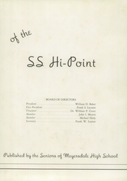 Page 7, 1949 Edition, Meyersdale Joint High School - Hi Point Yearbook (Meyersdale, PA) online yearbook collection