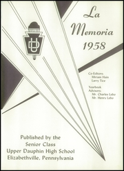 Page 5, 1958 Edition, Upper Dauphin High School - La Memoria Yearbook (Elizabethville, PA) online yearbook collection
