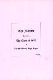 Page 5, 1926 Edition, Middleburg High School - Monitor Yearbook (Middleburg, PA) online yearbook collection
