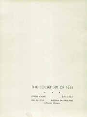 Page 5, 1938 Edition, Collingdale High School - Colsenian Yearbook (Collingdale, PA) online yearbook collection