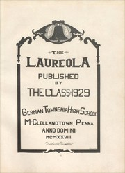 Page 5, 1928 Edition, German Township High School - Laureola Yearbook (McClellandtown, PA) online yearbook collection