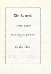 Page 9, 1929 Edition, German Township High School - Laureola Yearbook (McClellandtown, PA) online yearbook collection