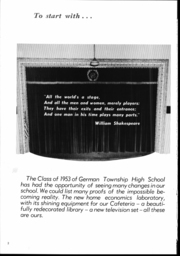 Page 3, 1953 Edition, German Township High School - Laureola Yearbook (McClellandtown, PA) online yearbook collection