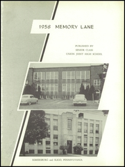 Page 5, 1958 Edition, Union High School - Memory Lane Yearbook (Rimersburg, PA) online yearbook collection