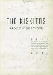 Page 7, 1941 Edition, Apollo High School - Kiskitas Yearbook (Apollo, PA) online yearbook collection