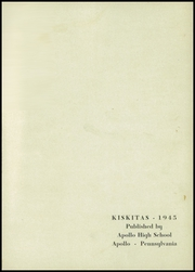 Page 5, 1945 Edition, Apollo High School - Kiskitas Yearbook (Apollo, PA) online yearbook collection