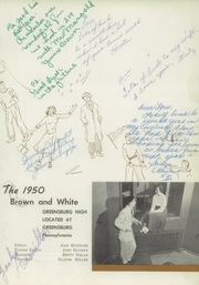 Page 5, 1950 Edition, Greensburg High School - Brown and White Yearbook (Greensburg, PA) online yearbook collection