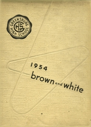 Page 1, 1954 Edition, Greensburg High School - Brown and White Yearbook (Greensburg, PA) online yearbook collection