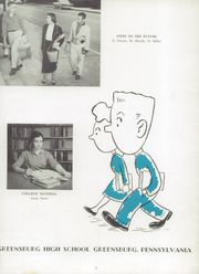 Page 7, 1958 Edition, Greensburg High School - Brown and White Yearbook (Greensburg, PA) online yearbook collection
