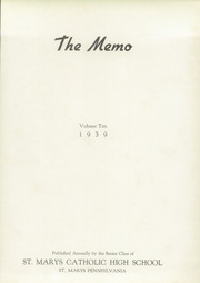 Page 5, 1939 Edition, Elk County Catholic High School - Memories Yearbook (St Marys, PA) online yearbook collection