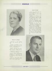 Page 12, 1937 Edition, South High School - Oriole Yearbook (Pittsburgh, PA) online yearbook collection