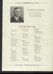 Page 17, 1939 Edition, South High School - Oriole Yearbook (Pittsburgh, PA) online yearbook collection