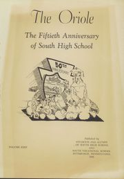 Page 5, 1948 Edition, South High School - Oriole Yearbook (Pittsburgh, PA) online yearbook collection