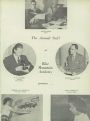 Page 5, 1957 Edition, Blue Mountain Academy - Echoes Yearbook (Hamburg, PA) online yearbook collection
