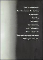 Page 5, 1954 Edition, Mercersburg Academy - Karux Yearbook (Mercersburg, PA) online yearbook collection