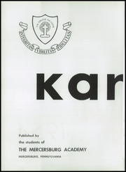 Page 6, 1954 Edition, Mercersburg Academy - Karux Yearbook (Mercersburg, PA) online yearbook collection