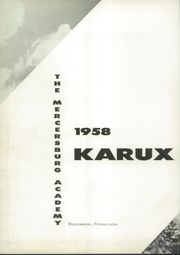 Page 6, 1958 Edition, Mercersburg Academy - Karux Yearbook (Mercersburg, PA) online yearbook collection
