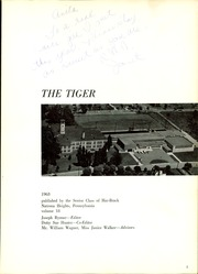 Page 5, 1963 Edition, Har Brack High School - Tiger Yearbook (Natrona Heights, PA) online yearbook collection
