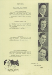Page 15, 1940 Edition, West Chester High School - Garnet and White Yearbook (West Chester, PA) online yearbook collection