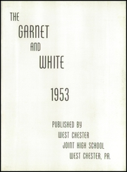 Page 7, 1953 Edition, West Chester High School - Garnet and White Yearbook (West Chester, PA) online yearbook collection