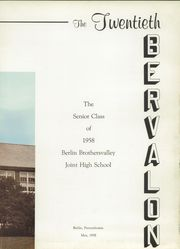 Page 5, 1958 Edition, Berlin Brothersvalley High School - Bervalon Yearbook (Berlin, PA) online yearbook collection