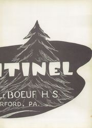Page 3, 1956 Edition, Fort Leboeuf High School - Sentinel Yearbook (Waterford, PA) online yearbook collection